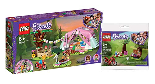 Legoo Lego Friends-Set: 41392 - Camping in Heartlake City + 30412 Friends Park Picnic Polybag, ab 6 Jahren