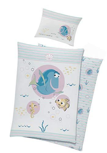Unbekannt Baby Kinder Bettwäsche Disney Nemo & Dorie Bezug 100x135cm (Rosa)