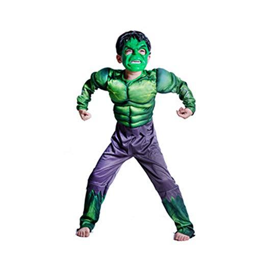 KAKAFASHION - Disfraz de Halloween COS de Rendimiento Muscular para Hombre de Hierro Capitán América Superman Batman Spider-Man Verde Gigante Optimus Prime Series Adecuado para niños S-L 90-135 cm