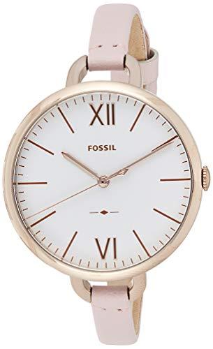 Fossil Damen Analog Quarz Uhr mit Leder Armband ES4356