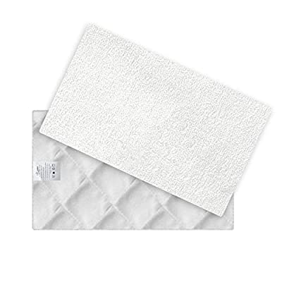 Light n easy Mop Pads Replacement for S3101 Set of 2 Replacement Washable Microfiber Mop Pads, Steam Pocket Mop Pads