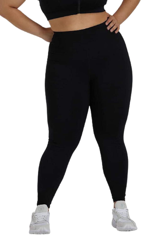 Wolf and Whistle Black Mesh Panel Leggings, Black (Black), 6XL/US22, 1 Piece