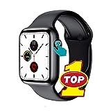 Reloj inteligente, monitor de frecuencia cardíaca Ecg, podómetro, rastreador de ejercicios, llamada Bluetooth, Ip68, reloj inteligente con detección de temperatura corporal a prueba de agua,Negro