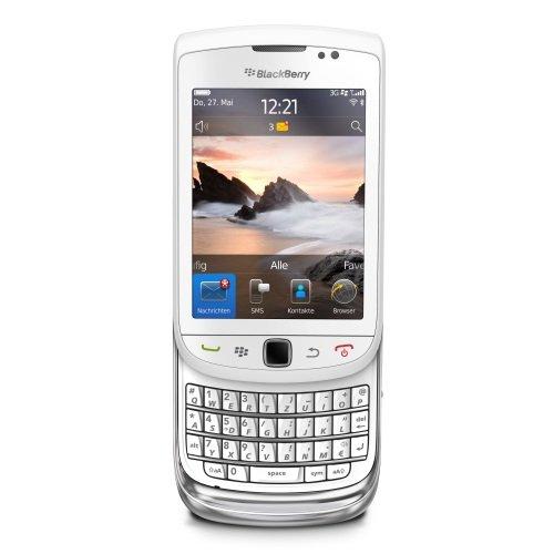 BlackBerry Torch 9800 Smartphone (8,1 cm (3,2 Zoll) Bildschirm, Touchscreen, 5 Megapixel Kamera, QWERTZ-Tastatur) weiß