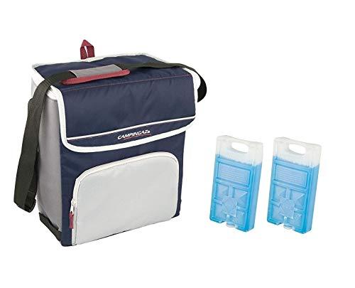 ALTIGASI Sac Thermique Campingaz Fold'N Cool Campingaz de 20 litres avec bandoulière réglable et et Pochette Frontale- Prestation jusqu'à 12 + 2 pièces Freez Pack m10