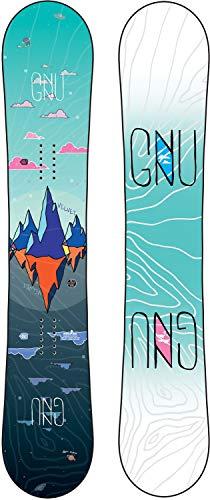 Gnu Velvet Asym Snowboard Womens Sz 143cm