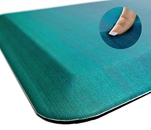 Anti Fatigue Comfort Pattern Floor Mat by Sky Mats -Commercial Grade Quality Perfect for Standup Desks, Kitchens, and Garages - Relieves Foot, Knee, and Back Pain (20x32x3/4-Inch, Green Ombré)