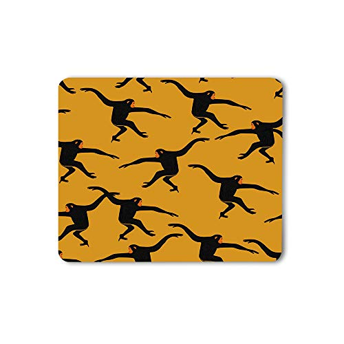 Moslion Black Gibbon Monkey Mouse Pad Animal Print The Silhouette of Funny Animal Jungle Ape Gaming Mouse Mat Non-Slip Rubber Base Thick Mousepad for Laptop Computer PC 9.5x7.9 Inch