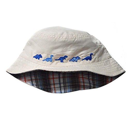 Baby & Toddler Hat, Rifi Reversible Brim Sun Protection Dinosaur Fishman Hat (0-6 months)