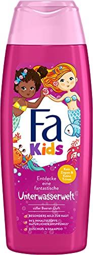 Fa Kids Duschgel & Shampoo Unterwasserwelt, mit zauberhaft-süßem Beeren-Duft, 250 ml