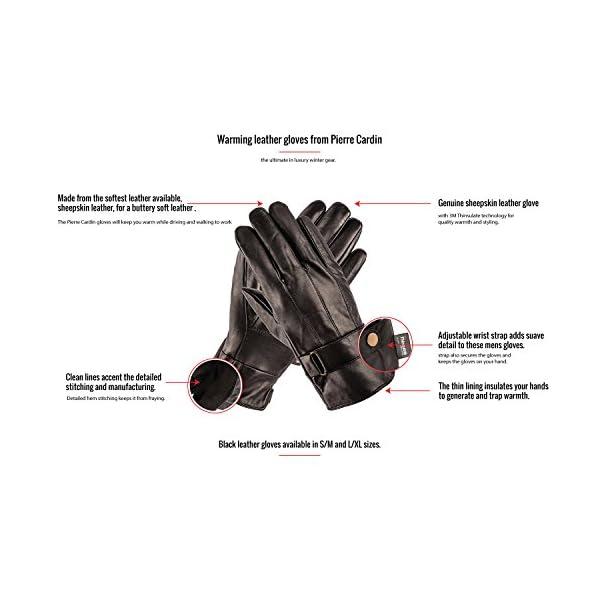 Pierre Cardin Luxury Mens Leather Winter Gloves 2