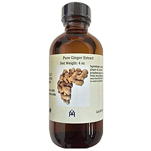 OliveNation Pure Ginger Extract - 4 ounces - Rich, vibrant taste - New flavor dimension to cookies and cakes - baking-extracts-and-flavorings