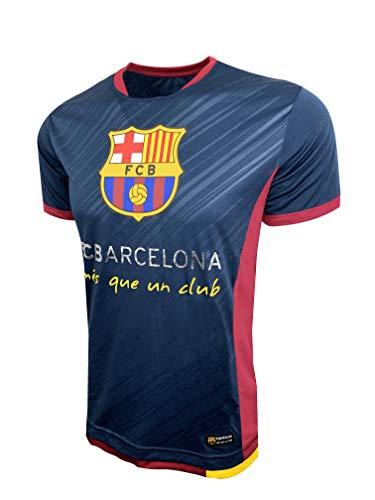 HKY Sports Barcelona Poly Jersey, FC Barcelona T-Shirt (Medium) Blue