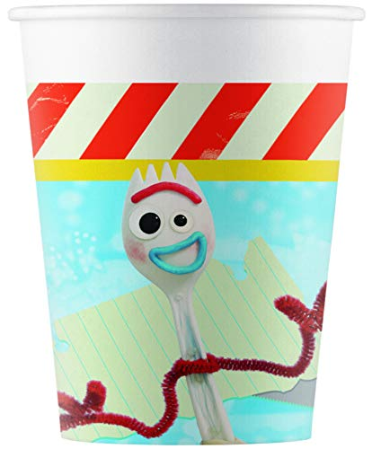 Procos 26965 Toy Story 4 Vasos de Papel (200 Ml), Paquete de...