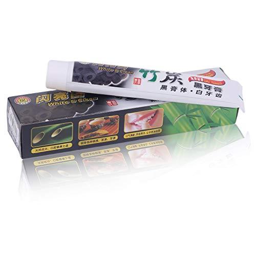 KinshopS Accessorio per la Cura dei Denti dentifricio sbiancante Carbone di bambù igiene Orale sbiancante 100G
