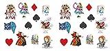 Beistle , 24 Piece Alice in Wonderland Cutouts, 6' to 12', Multicolor
