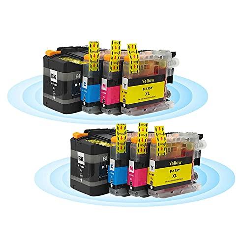 Reemplazo de Cartucho de Tinta LC139XLBK LC135XL para Brother MFC-J6520DW J6920DW J6720DW Paquete de Combo de Alto Rendimiento (Paquete de 4) 2 Set