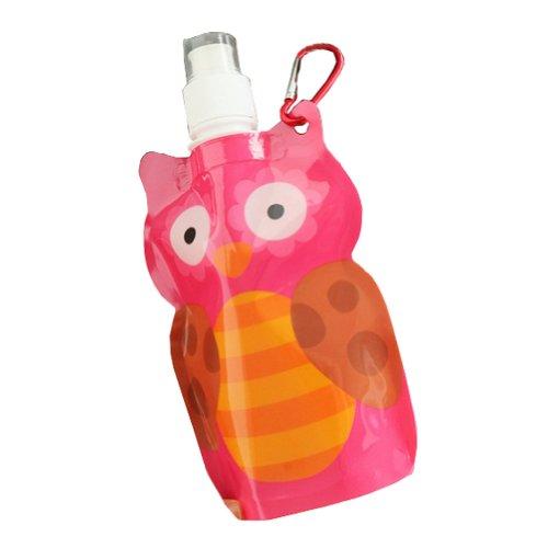 2 pièce une bouteille d'eau vélo/marche/camping bouteille sport, 380 ml/hibou