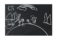 ITTE Roll of 60x200cm Vinyl Chalkboard Wall Sticker Contact Paper Blackboard Memo Removable Wall Sticker Home Decal Wall Mural (白)