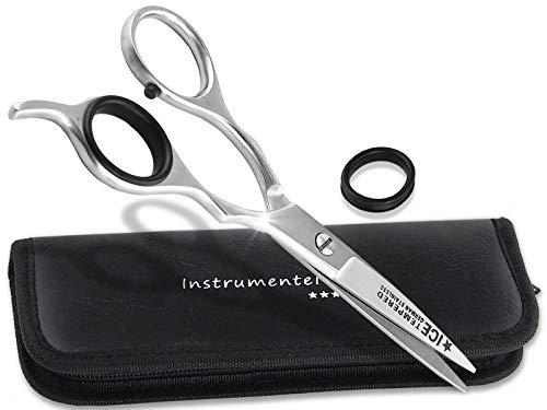 Premium Friseurschere Haarschere mit Mikroverzahnung InstrumenteNRW oder Solingen mit Aufbewahrungs-Etui (Nr.10 = 5 Zoll 1 x Mikroverzahnt)