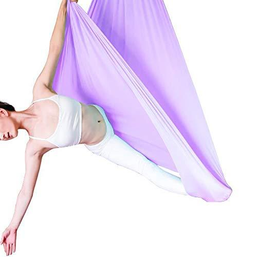 Hamaca Elástica Yoga Aéreo, Aerobic Stepper Fitness Ejercicio para Yoga Antigravedad, Ejercicios De Inversión, Flexibilidad Mejorada Y Resistencia Del Núcleo - Accesorios De Montaje Incluidos,Púrpura