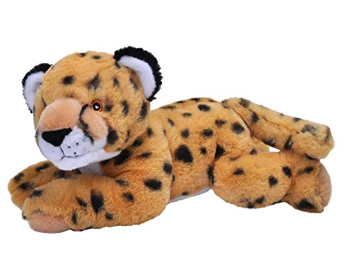 Wild Republic EcoKins Cheetah Stuffed Animal 12 inch, Eco Friendly Gifts for Kids, Plush Toy, Handcrafted Using 16 Recycled Plastic Water Bottles