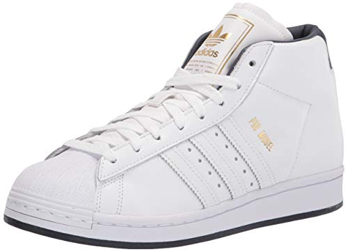 adidas Originals mens Pro Model White/White/Gold Metallic 10