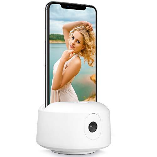 Automatische Gesichtsverfolgung Kamerahalterung【Keine APP ERFORDERLICH】 360° Drehung Selfie Stick, geeignet für Handy, Tablet - Handy-Kamerahalterung für Stativ - Ideal für Live-Streams, Live-Videos