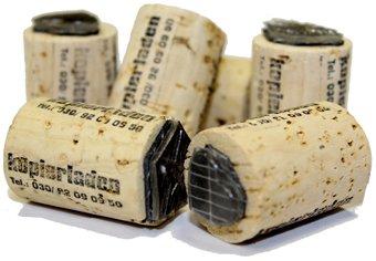 Kurkstempel met eigen wensmotief, Ø 20 mm, ideaal voor kleine logo's of symbolen - Smiley-stempel, logostempel, motiefstempel
