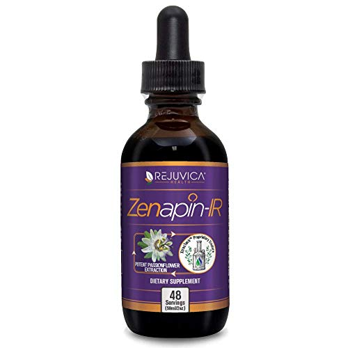 Zenapin Ir - All-Natural Liquid Calming Remedy That Works Fast! | 2X Absorption | Kava Kava, Ashwagandha, Passionflower, B-Vitamins &Amp; More