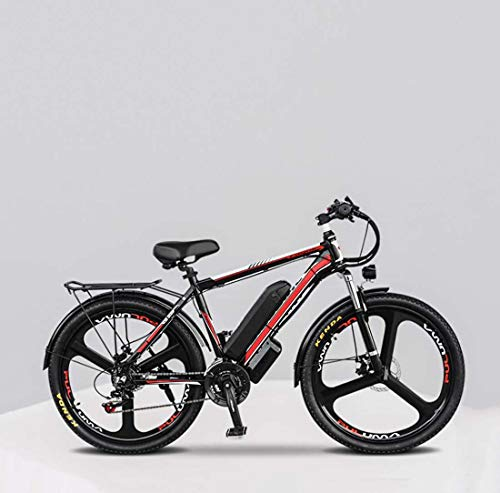 GASLIKE Adult Electric Mountain Bike, 48V Lithium Battery Aluminum Alloy Electric Bicycle, LCD Display Oil Brake 26 Inch Magnesium Alloy Wheels,17AH