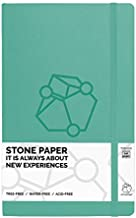 Pictostone Stone Paper Ruled (Lined) Professional Notebook, Glacier Green Hardcover with Leather Feel- Size 5