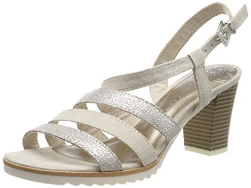 Marco Tozzi 2-2-28705-22 sandały damskie z paskiem, beżowy - Beige Dune Comb 435-37 EU