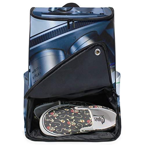 MONTOJ Travel Gear Laptop-Rucksack Bioresearch Mikroskop-Muster