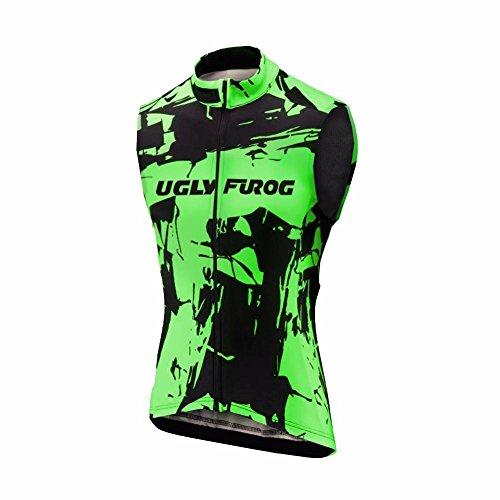 UGLY FROG Neu Winter Warm with Fleece Herren Ärmellos Radsport MTB Funktions Fahrradweste - Laufweste Trikots & Shirts Bike Wear Cycling Vest Sport Top Bekleidung