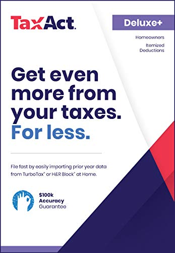 TaxAct Online 2018 Deluxe+ Federal Edition [PC Online code]