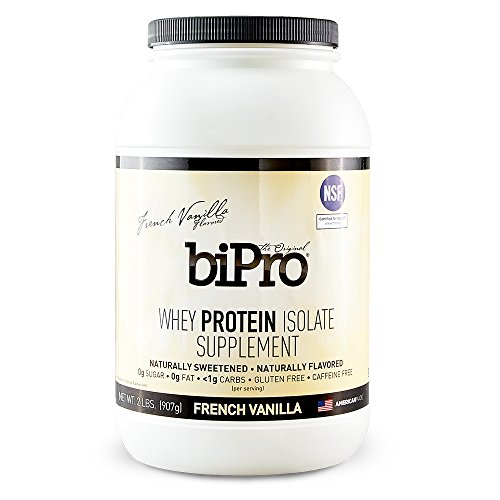 BiPro 100% Whey Protein Isolate, 2lb, French Vanilla, All Natural, Sugar-Free, Lactose-Free, Gluten-Free, 90 Calories