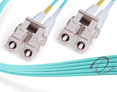 FiberCablesDirect - 150M OM3 LC LC Fiber Patch Cable   Indoor/Outdoor 10Gb Duplex 50/125 LC to LC Multimode Jumper 150 Meter (492.12ft)   Length Options: 0.5M-300M   1/10/40/100g 10gbase lc-lc ofnr