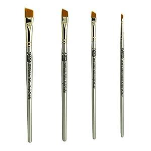 """ZEM Brush Golden Taklon Angle Shaders Brush Set Sizes 1/8"""", 1/4', 3/8"""", 1/2"""""""