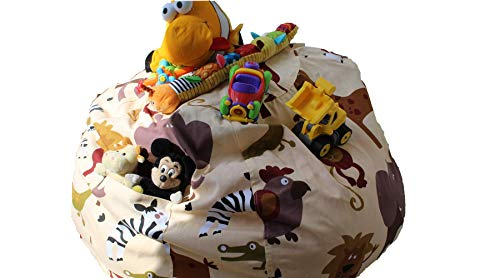 MSB Kid's Stuffed Animal Storage Bean Bag Chair - Giant Bean...