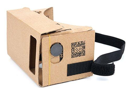 DURAGADGET Cardboard Virtual Reality Headset with Elastic Head Strap - Compatible with Google Nexus 5X & Google Nexus 6P