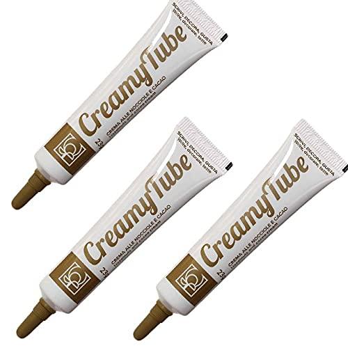 Zeus Party Set di 3 Tubetti di Crema alle Nocciole e Cacao per Scrivere e Decorare su Torte Dolci Biscotti Tubi da 23g