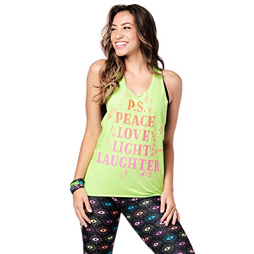 Zumba Athletic Fitness Top Active Loose Dance Workout Muscle Tank Tops para mujer - negro - X-Large