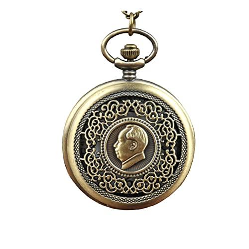 Naisicatar Cadena De Bolsillo Pendiente del Collar del Reloj De Bolsillo De Mujeres De Cuarzo Analógico Reloj De Bolsillo del Bronce del Reloj De Bolsillo Collar L