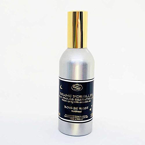 Kissenspray aus der Provence 'Rosenholz' mit natürlichem Essenzöl / ätherischem Öl, 100 ml Spray