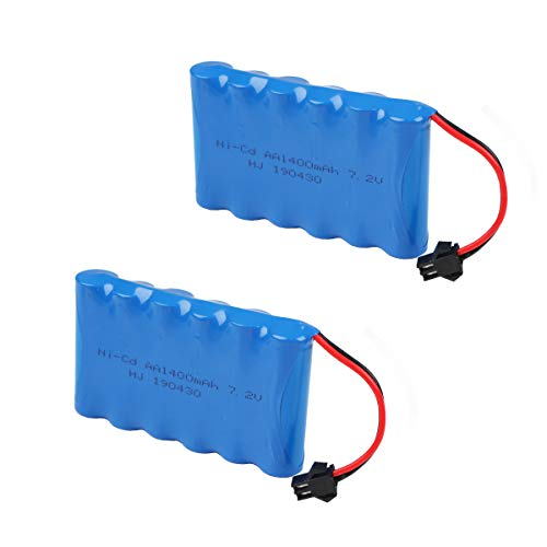 Makerfire 7.2V 1400mAh Battery Pack SM Plug for RC Car Spare Parts Accessories