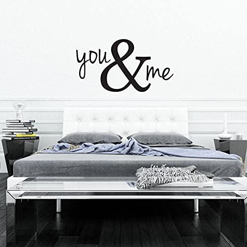 Kjlfow Tú y yo Pegatinas de Pared de Dormitorio decoración de Vinilo...