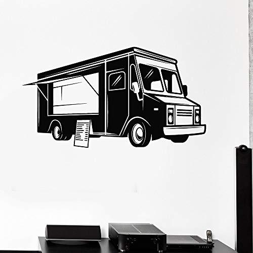 Calcomanía de vinilo para pared con diseño de coche, camión de comida, cocinero, coche, hogar, dormitorio, sala de estar, decoración para habitación de niños, Mural artístico para pared, Deciration