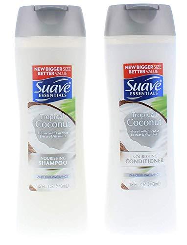 Suave Essentials Tropical Coconut Shampoo and Conditioner 15 Fl. Oz.