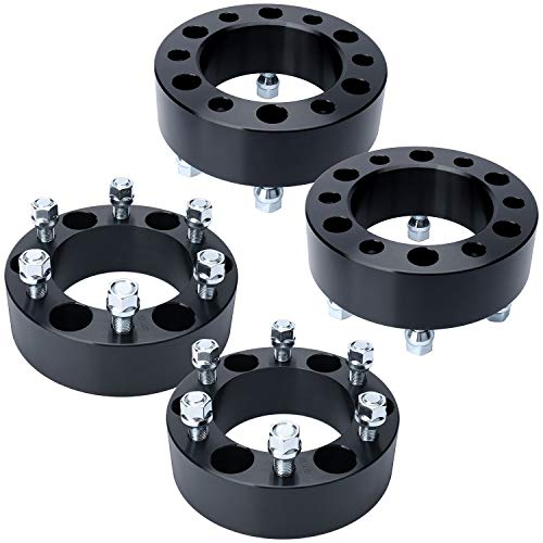 IRONTEK 2 inch 6 Lug Wheel Spacers 6x5.5 to 6x5.5 6x139.7mm to 6x139.7mm 14x1.5 Studs Wheel Spacer Adapters Fits for Chevrolet Tahoe, Silverado 1500, Express 1500 GMC Cadillac (2"